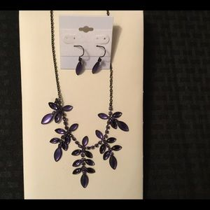 Jewelry - Purple  Necklace and earrings
